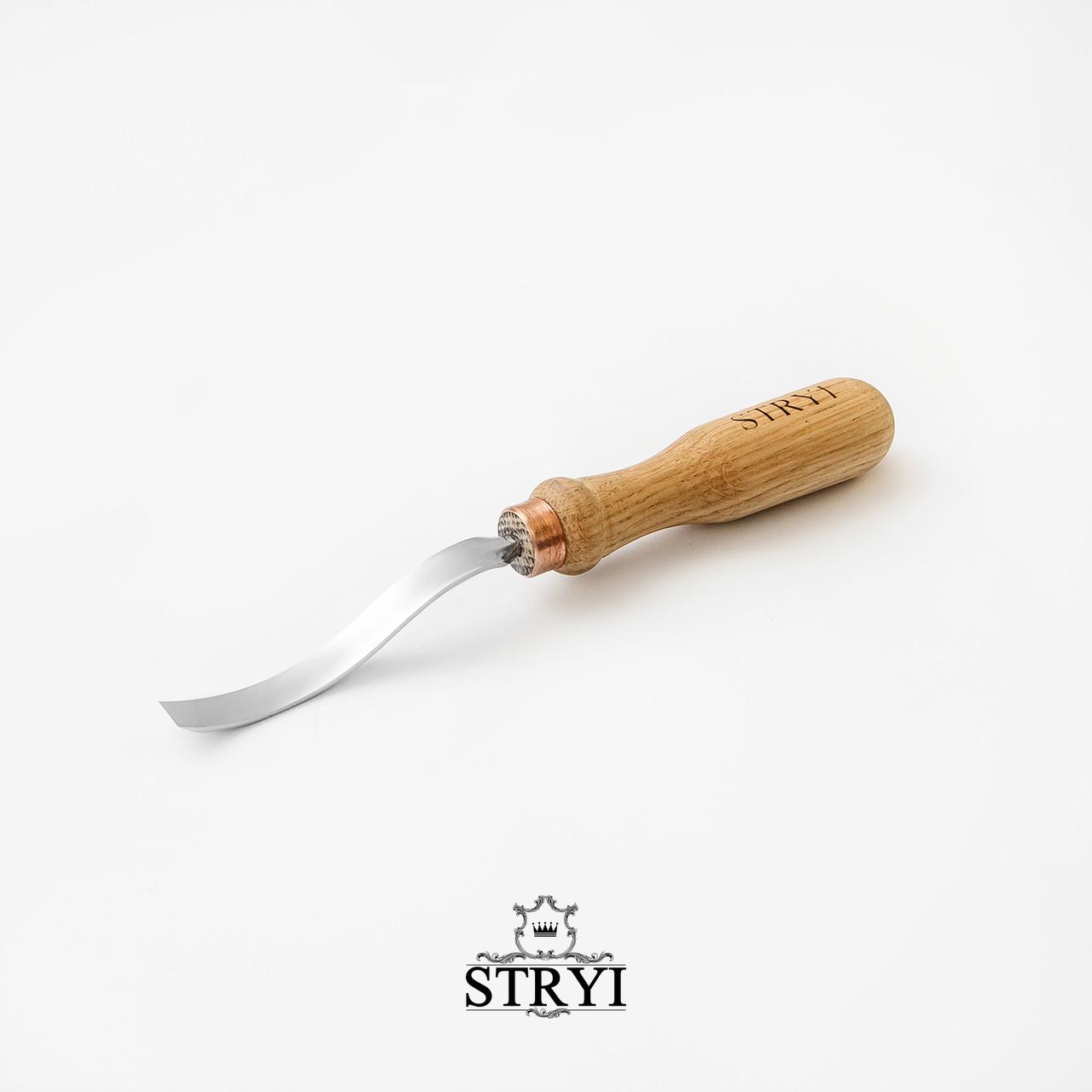 Стамеска клюкарза  плоская для резьбы по дереву от STRYI, 10 мм