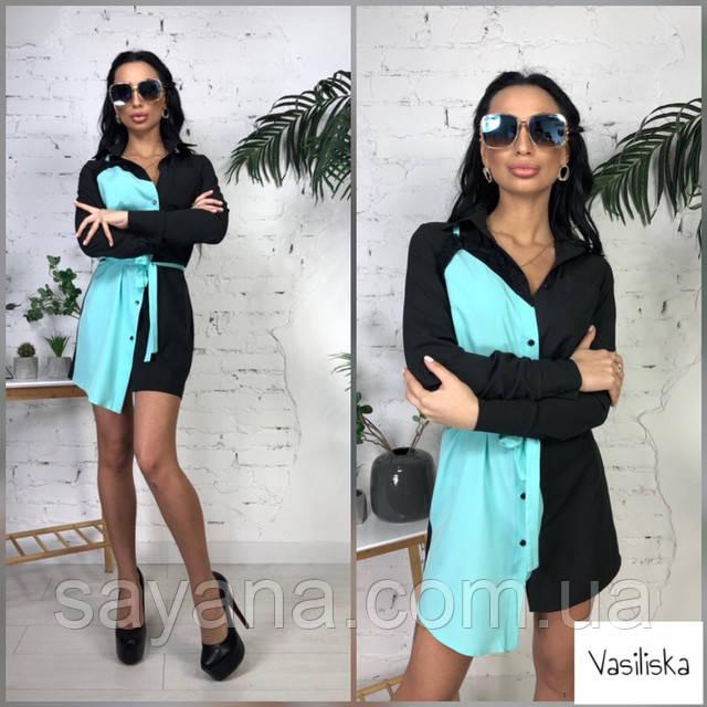 женское летнее платье рубашка