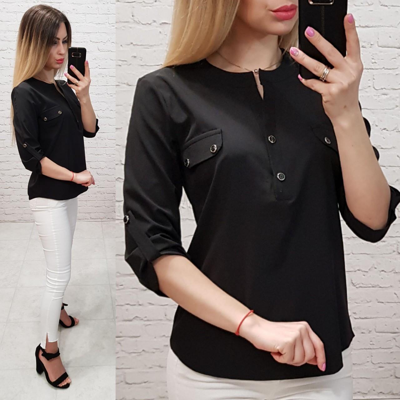 Блуза жіноча, софт, модель 829, колір - чорний