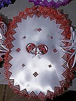 Пасхальная салфетка на детскую корзину в разных цветах, фото 1