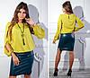 Красивая женская блуза с оригинальным рукавом с разрезами S, M, L, XL, фото 3