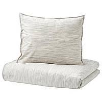IKEA SKOGSALM Комплект постельного белья, бежевый  (703.374.90), фото 1