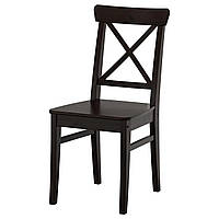 IKEA INGOLF Стул черно-коричневый  (602.178.22), фото 1