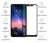 Защитное стекло дважды закаленное 9D для Xiaomi Redmi Note 6 PRO (Полное покрытие и полный клей), фото 4