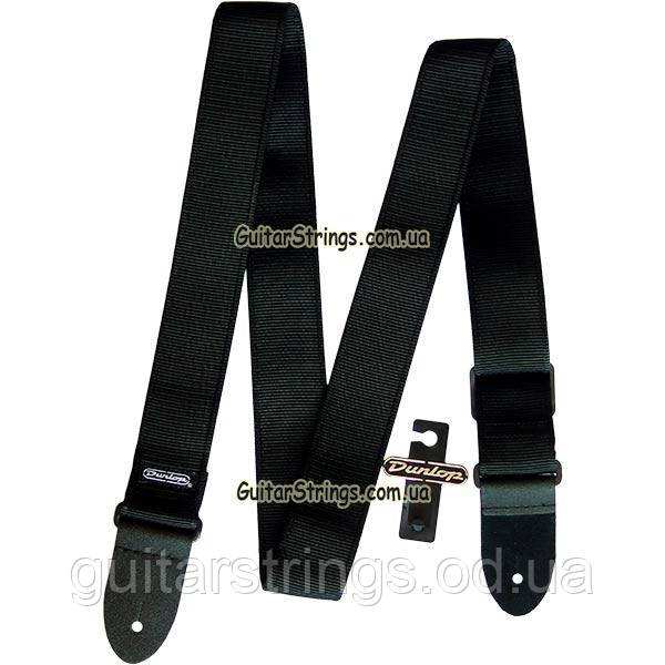 Ремень гитарный Dunlop D38-09BK Guitar Solid Strap Black