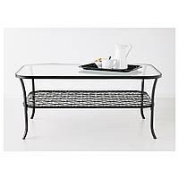 Стол IKEA KLINGSBO, черный, прозрачное стекло  (901.285.65), фото 1