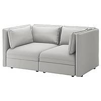 IKEA VALLENTUNA 2-местный модульный диван, Оррста светло-серый  (292.776.82)