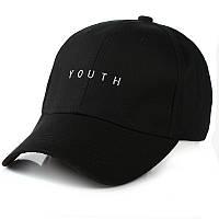 Чёрная кепка бейсболка Youth