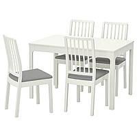 IKEA EKEDALEN/EKEDALEN Стол и 4 стула, белый, Оррста светло-серый  (792.968.57), фото 1