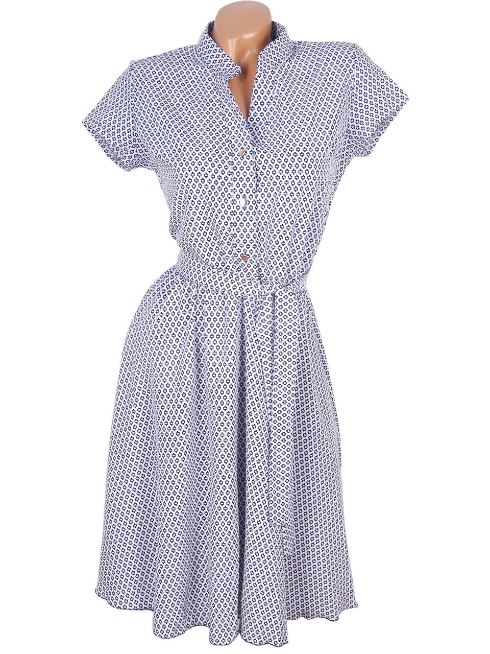 Красивое платье в мелкий геометрический принт 44-50
