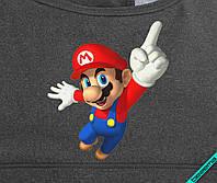 Шелкография на белье для беременных термо Марио [Свой размер и материалы в ассортименте]