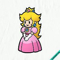 Аплпикации, латки на белье для беременных Принцесса Пич [Свой размер и материалы в ассортименте]