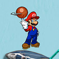 Термопринты на леггинсы Марио с мячом [Свой размер и материалы в ассортименте]