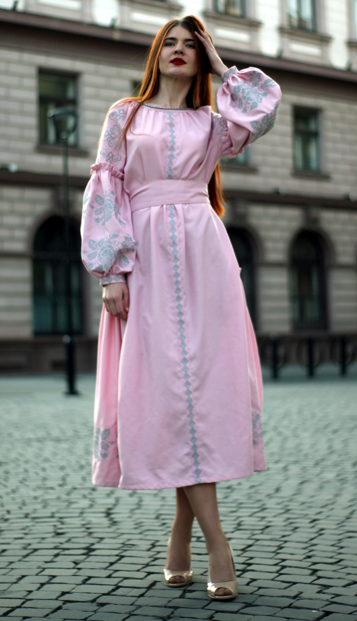 """Жіноче вишите плаття """"Айріс"""" (Женское вышитое платье """"Аирис"""") PJ-0008"""