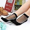 Женское Ультратонкий дышащий печатный вышитый хлопчатобумажный шнурок с низким вырезом Non Slip Sock - 1TopShop, фото 3