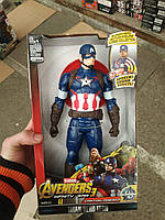 Marvel Герои, Мстители 2 Капитан америка, +звук, +свет. 30см