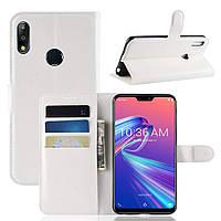 Чехол-книжка Litchie Wallet для Asus Zenfone Max Pro M2 Белый