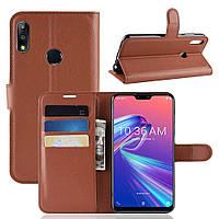 Чехол-книжка Litchie Wallet для Asus Zenfone Max Pro M2 Коричневый