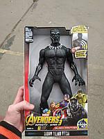 Marvel Герои, Мстители 2 Капитан америка, +звук, +свет. 30см Черная пантера