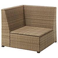 IKEA SOLLERON Садовое угловое кресло, коричневая  (203.736.21)