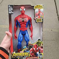 Marvel Герои, Мстители 2 Капитан америка, +звук, +свет. 30см Человек паук