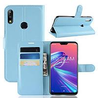 Чехол-книжка Litchie Wallet для Asus Zenfone Max Pro M2 Голубой