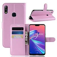 Чехол-книжка Litchie Wallet для Asus Zenfone Max Pro M2 Светло-розовый