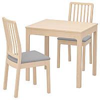 IKEA EKEDALEN/EKEDALEN Стол и 2 стула, береза, оррста светло-серый  (892.968.71)