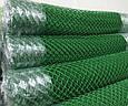 Металлическая сетка рабица с ПВХ покрытием (зелёная), фото 4