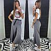 Женские стильные брюки- кюлоты с поясом в расцветках. ЛД 29-0419, фото 5