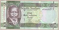 Банкнота Южного Судана 1 фунт 2011 г. UNC