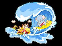 Декор на сатин Море [Свой размер и материалы в ассортименте]