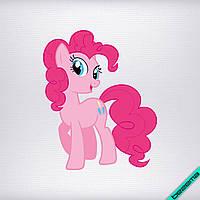 Термоаппликации на самоги Pony розовая [Свой размер и материалы в ассортименте]