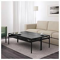 Столик с двусторонней столешницей IKEA NYBODA, черный/бежевый  (992.083.22), фото 1