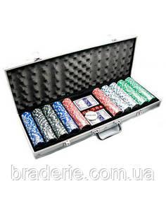Покерный набор в кейсе 500