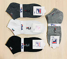Носки спортивные демисезонные хлопок FILA Турция - оригинал размер 41-45 ассорти
