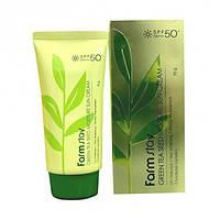 Солнцезащитный крем с экстрактом зеленого чая FARM STAY Green Tea Seed Moisture Sun Cream SPF 50+/РА+++, 70г