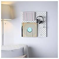 IKEA SKADIS Перфорированная панель, белый  (392.170.65), фото 1