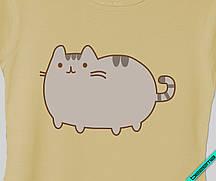 Термопереводки на скатерти Pusheen cat [Свой размер и материалы в ассортименте]
