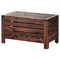 IKEA APPLARO Садовая скамья, коричневая морилка  (702.049.23), фото 1