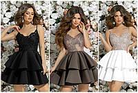 """Женское кружевное пышное платье  на выпускной (жіноча сукня ) """"Асоль"""" 3 цвета, фото 1"""