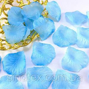 (≈140шт) Лепестки роз, искусственные Цена за упаковку Цвет - голубой однотонный