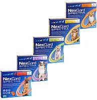 Таблетки від бліх, кліщів і гельмінтів для собак NexGard Spectra, ціна за 3 табл.(упаковку)