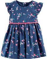 Летнее платье для новорожденной девочки 9М на рост 69-72 см OshKosh (ОшКош) хлопковое цветочный принт