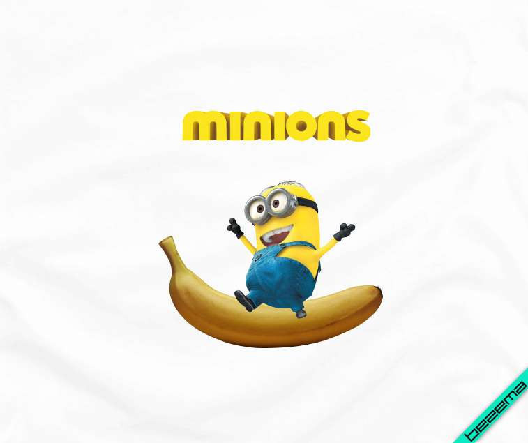 Наклейки на жакеты Миньон на банане [Свой размер и материалы в ассортименте]