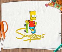 Наклейки на фатин Симпсоны Барт со скейтом [Свой размер и материалы в ассортименте]