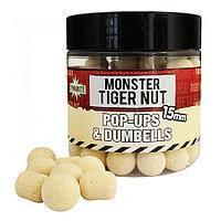 Бойлы Dynamite Baits Monster Tiger Nut White Fluoro Pop-Ups & Dumbells 10mm 100g