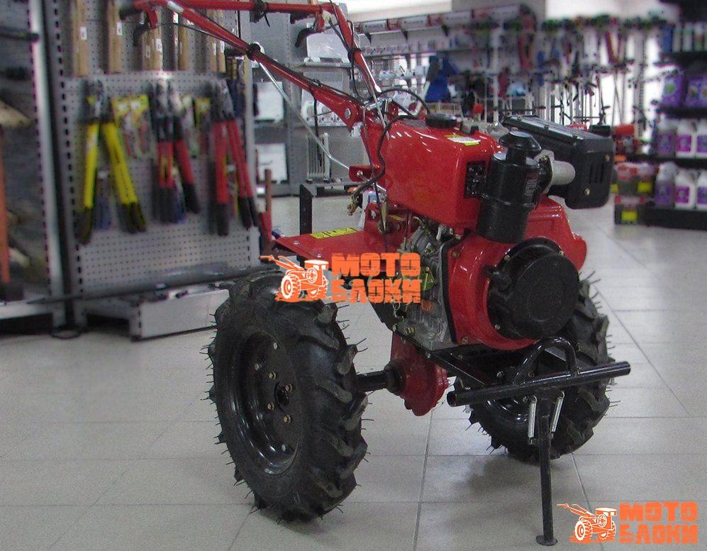 """Дизельный культиватор Forte 1350 колёса 12"""" (Красный)"""