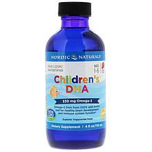 """Риб'ячий жир (ДГК) для дітей Nordic Naturals """"children's DHA"""" з полуничним смаком (119 мл)"""