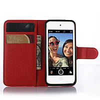 Чехол-книжка Litchie Wallet для Apple iPod Touch 5 / iPod Touch 6 Красный